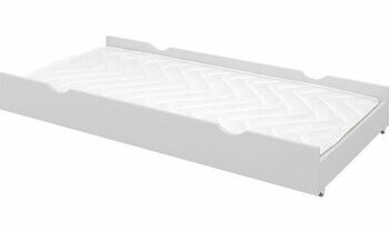 Tiroir rangement lit superposé 90x200 Écrin blanc