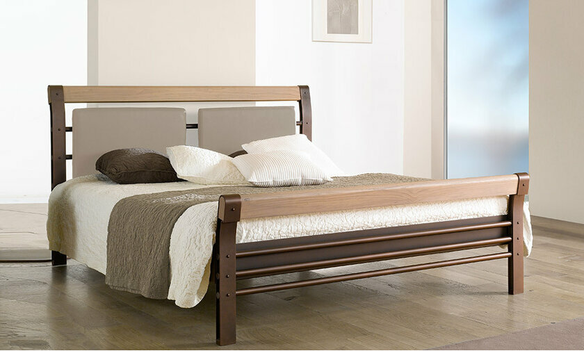 lits adultes design en m tal bilbao ferplay gris. Black Bedroom Furniture Sets. Home Design Ideas
