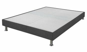 sommier tapissier blanc sl15 par ebac. Black Bedroom Furniture Sets. Home Design Ideas