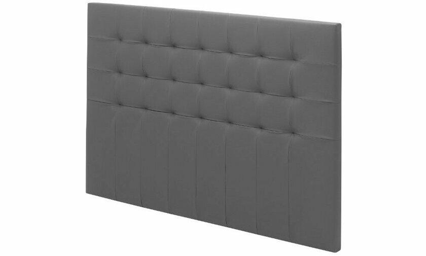 Tete de lit capitonnée grise Charme  Chambre a coucher