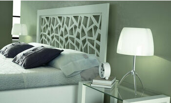 t te de lit ajour e en m tal blanc brio mosaic. Black Bedroom Furniture Sets. Home Design Ideas