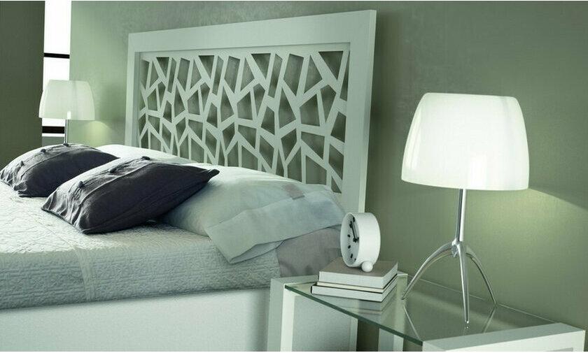 Tête de lit métal Brio mosaic blanc