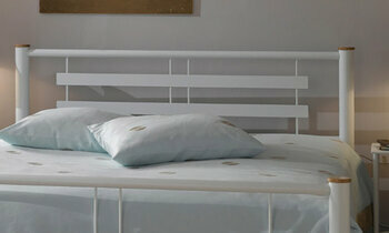Tête de lit métal Roxy bicolore gris