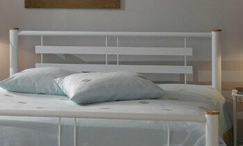 t te de lit m tal gris roxy ferplay par r sistub. Black Bedroom Furniture Sets. Home Design Ideas