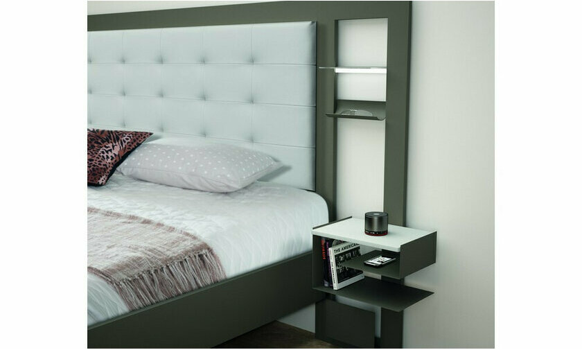 Tête de lit Brio XXL luxe cuir blanc
