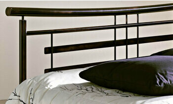 t te de lit en m tal noir opium par r sistub. Black Bedroom Furniture Sets. Home Design Ideas