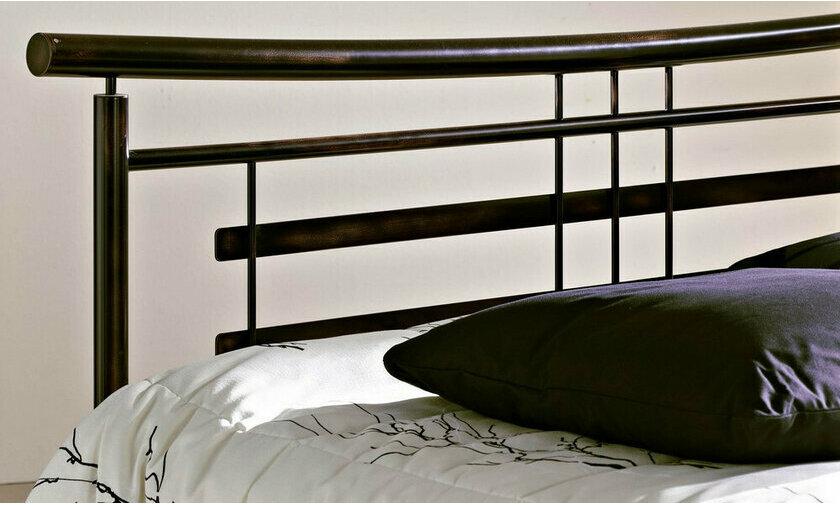 t te de lit en m tal noir opium par r sistub. Black Bedroom Furniture Sets. Home Design Ideas
