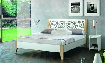 lit m tal lit adulte blanc angelo chambre a coucher. Black Bedroom Furniture Sets. Home Design Ideas