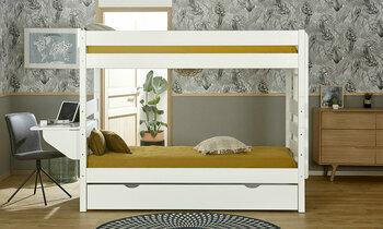 lit superpos 90x190 alto naturel chambre a coucher. Black Bedroom Furniture Sets. Home Design Ideas