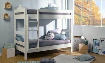 lit superpos gris avec matelas iris en 90x190 cm adulte et enfant. Black Bedroom Furniture Sets. Home Design Ideas