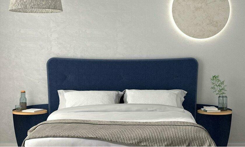 tête de lit design avec chevet intégrés par résistub