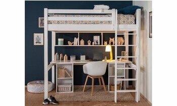 Lit mezzanine Adam Blanc 90x190