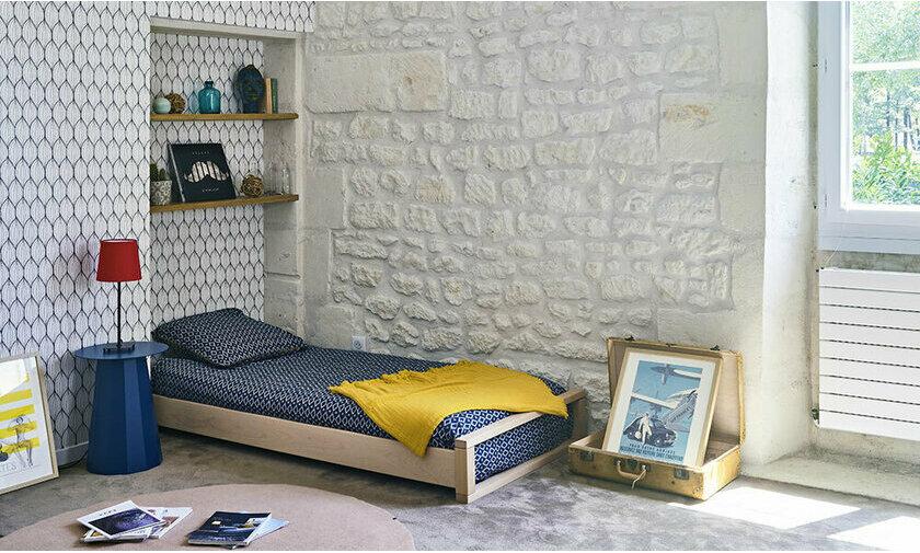 Pack lit empilable Kodiak hêtre 90x190 avec Matelas
