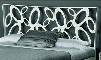 t te de lit en m tal brun p n lope fabrication fran aise. Black Bedroom Furniture Sets. Home Design Ideas