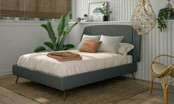 Tête de lit métal et tissu Alix