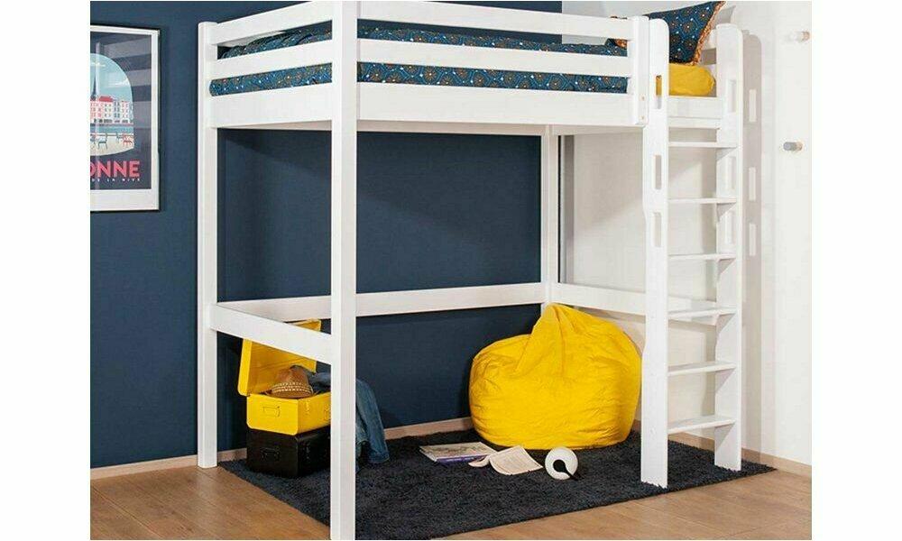 pack lit mezzanine 2 places adam  matelas couchage complet