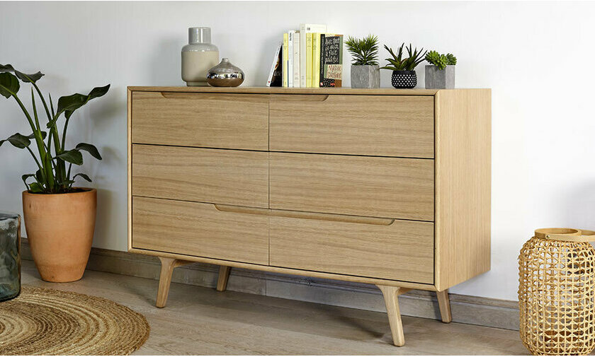 Commode en bois style scandinave