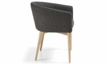 Fauteuil Jufell - gris anthracite